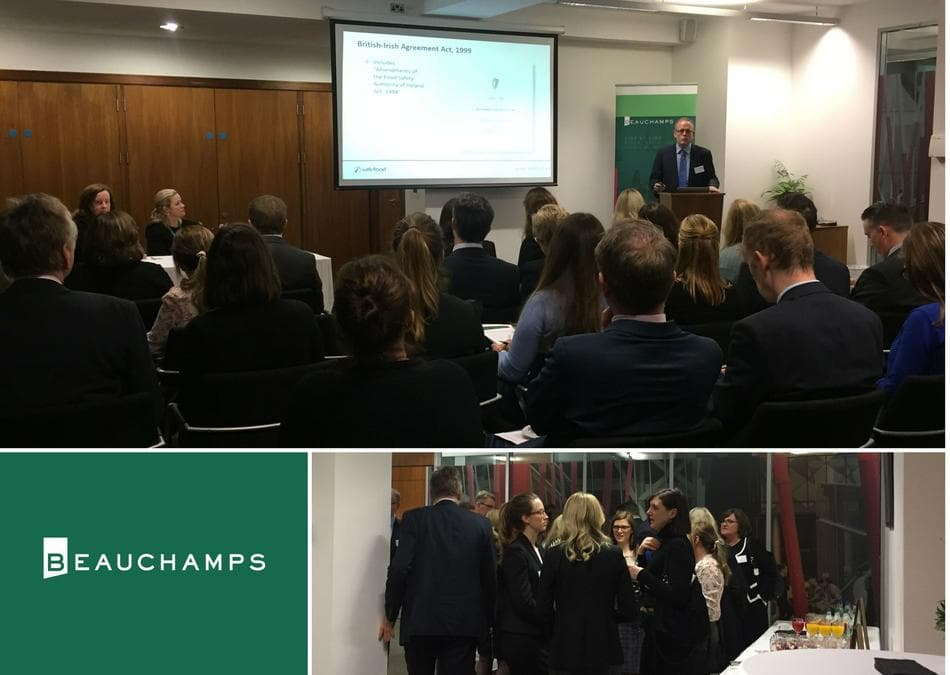 Collage of networking and speaking sessions at Beauchamps food safety seminar 28 November 2018