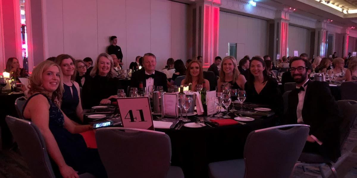 Irish Law Awards 2019 Beauchamps team at table